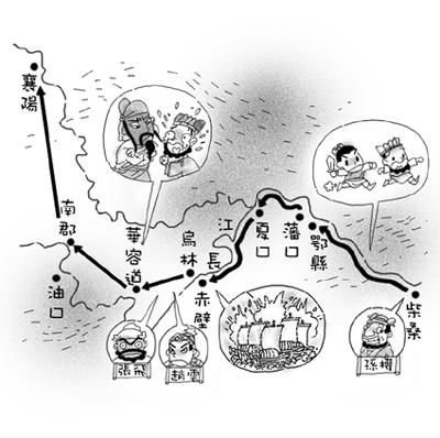 赤壁之战形势图